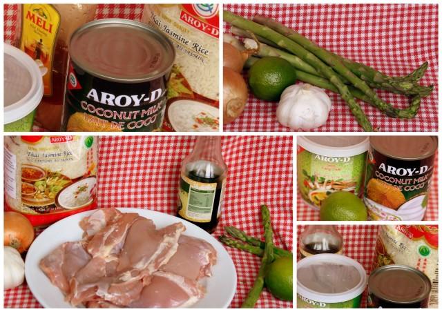 Ingrediënten kipcurry