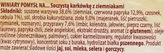 ingrediënten Poolse halskarbondae met aardappelen