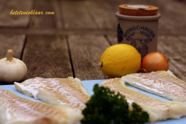 kabeljauw mosterdsaus